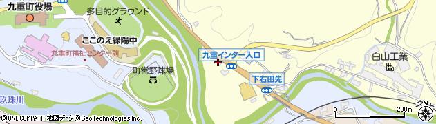 大分県玖珠郡九重町右田1377周辺の地図