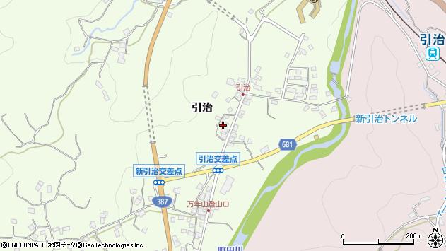 大分県玖珠郡九重町引治614周辺の地図