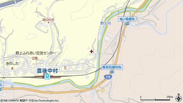 大分県玖珠郡九重町右田606周辺の地図