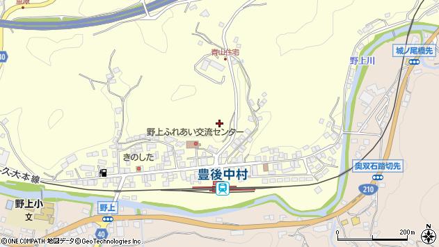 大分県玖珠郡九重町右田中村周辺の地図