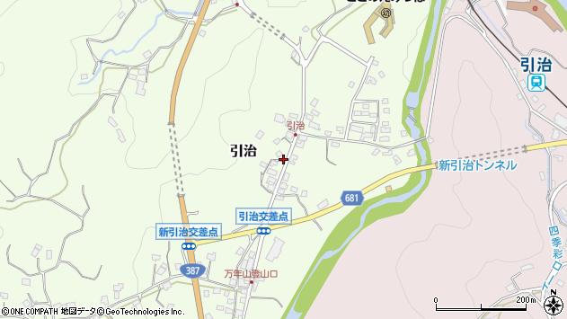 大分県玖珠郡九重町引治610周辺の地図