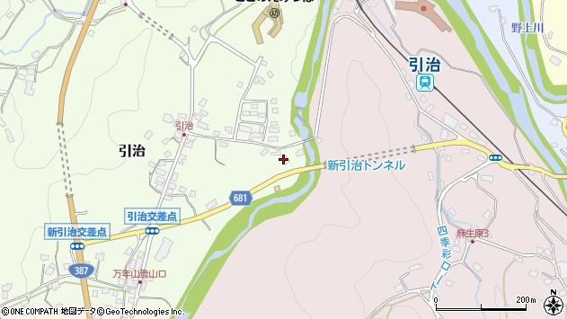 大分県玖珠郡九重町引治545周辺の地図