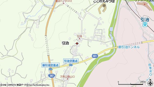 大分県玖珠郡九重町引治609周辺の地図