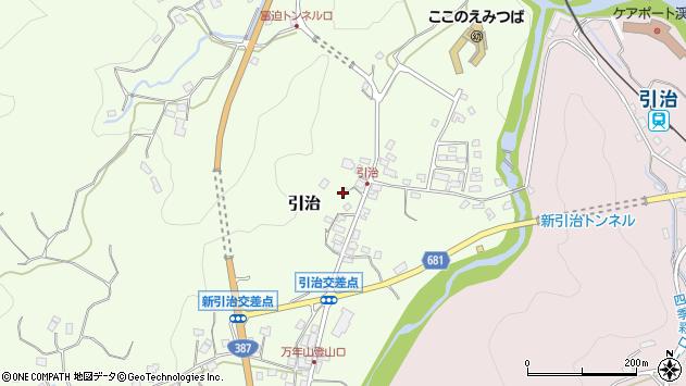 大分県玖珠郡九重町引治597周辺の地図