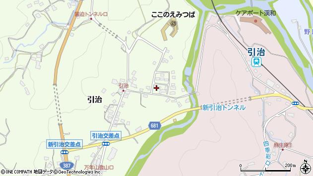 大分県玖珠郡九重町引治501周辺の地図