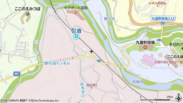 大分県玖珠郡九重町町田5457周辺の地図