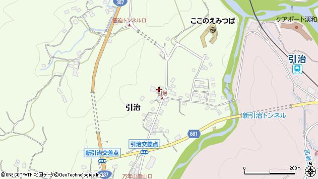 大分県玖珠郡九重町引治468周辺の地図