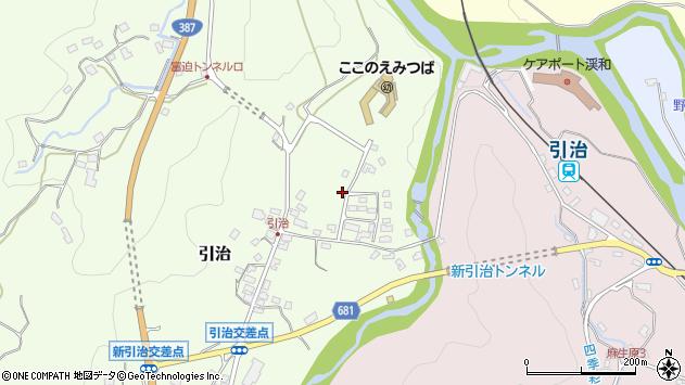 大分県玖珠郡九重町引治483周辺の地図