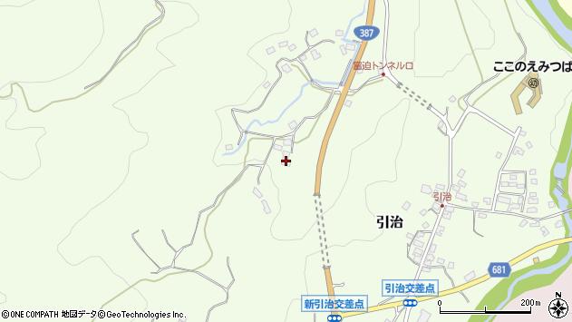 大分県玖珠郡九重町引治415周辺の地図