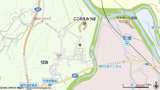 大分県玖珠郡九重町引治506周辺の地図