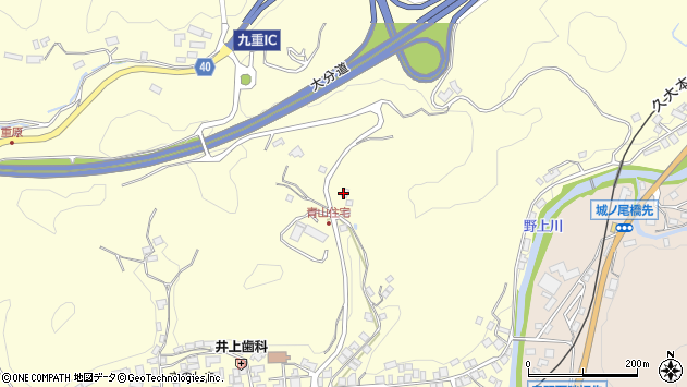 大分県玖珠郡九重町右田795周辺の地図