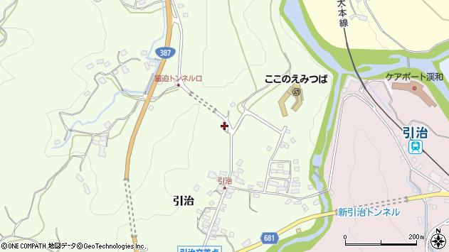 大分県玖珠郡九重町引治473周辺の地図