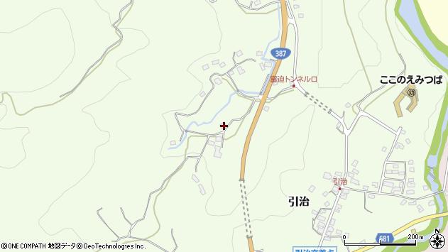 大分県玖珠郡九重町引治311周辺の地図