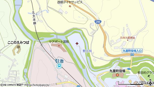 大分県玖珠郡九重町後野上7周辺の地図