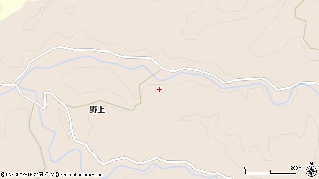 大分県玖珠郡九重町野上鳥越周辺の地図