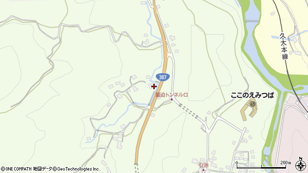 大分県玖珠郡九重町引治224周辺の地図