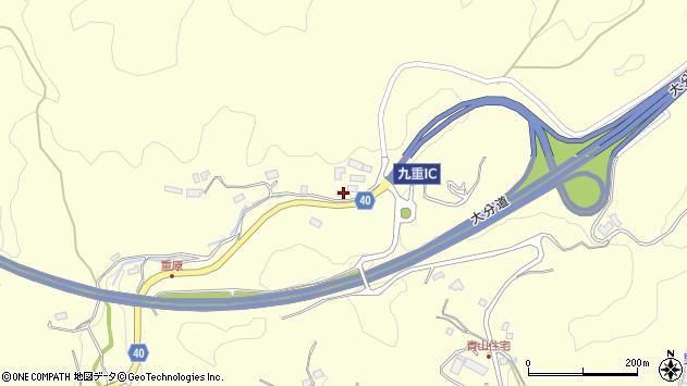 大分県玖珠郡九重町右田917周辺の地図
