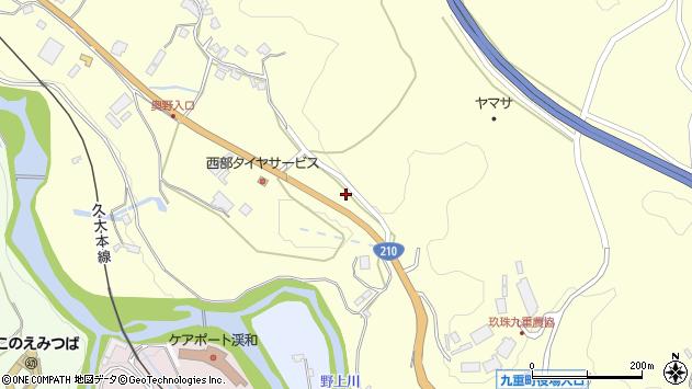 大分県玖珠郡九重町右田1955周辺の地図