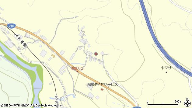 大分県玖珠郡九重町右田2068周辺の地図