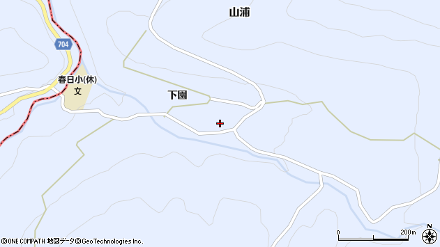 大分県玖珠郡玖珠町山浦2093周辺の地図