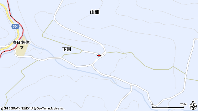 大分県玖珠郡玖珠町山浦2084周辺の地図