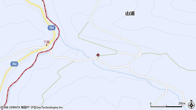 大分県玖珠郡玖珠町山浦周辺の地図