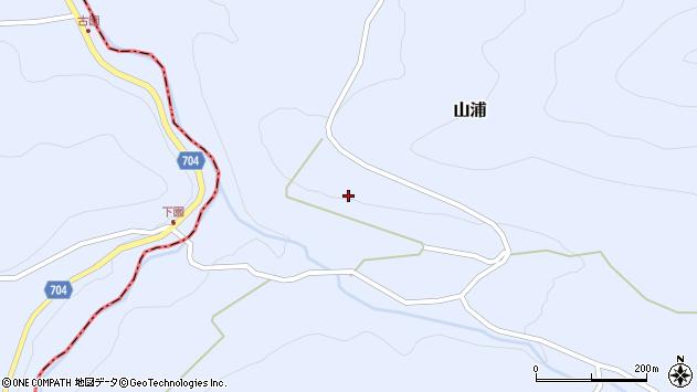 大分県玖珠郡玖珠町山浦下園周辺の地図