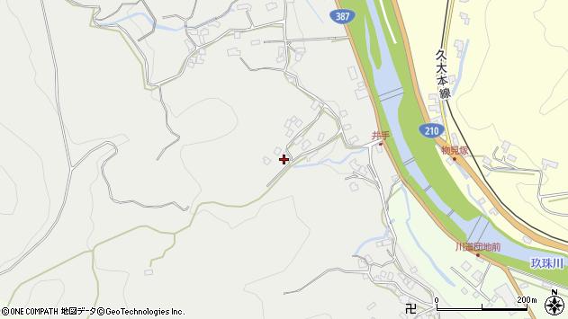 大分県玖珠郡九重町粟野715周辺の地図
