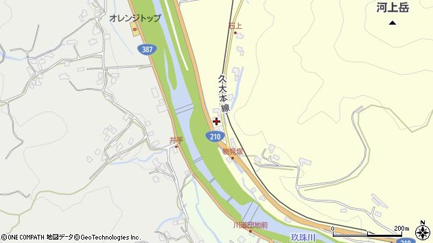 大分県玖珠郡九重町右田2320周辺の地図