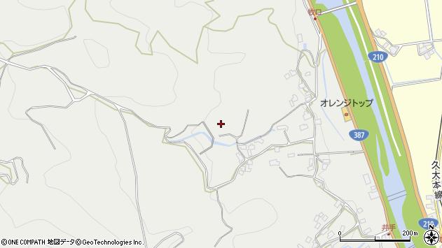 大分県玖珠郡九重町粟野田中周辺の地図