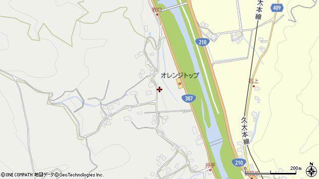 大分県玖珠郡九重町粟野257周辺の地図