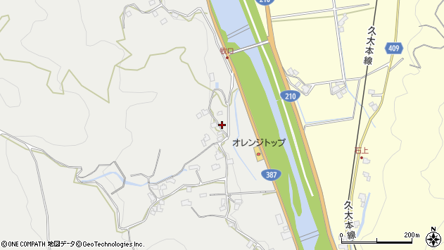 大分県玖珠郡九重町粟野251周辺の地図