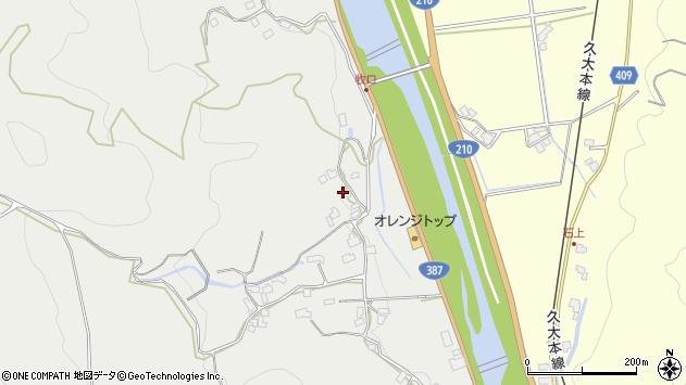 大分県玖珠郡九重町粟野869周辺の地図