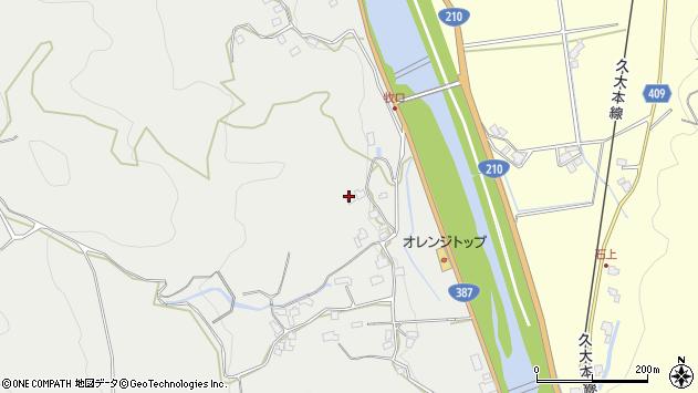 大分県玖珠郡九重町粟野872周辺の地図