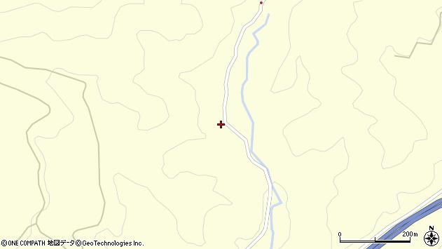大分県玖珠郡九重町右田262周辺の地図