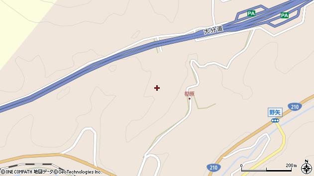 大分県玖珠郡九重町野上樫原周辺の地図