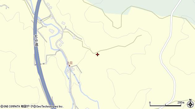 大分県玖珠郡九重町右田恵干周辺の地図