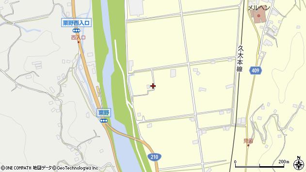 大分県玖珠郡九重町粟野161周辺の地図