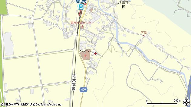 大分県玖珠郡九重町右田3157周辺の地図