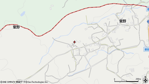 大分県玖珠郡九重町粟野1497周辺の地図