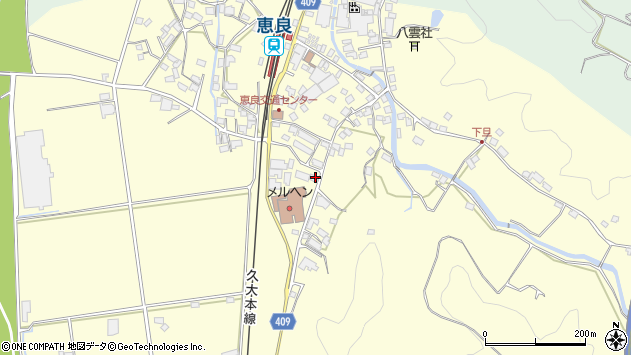 大分県玖珠郡九重町右田3158周辺の地図