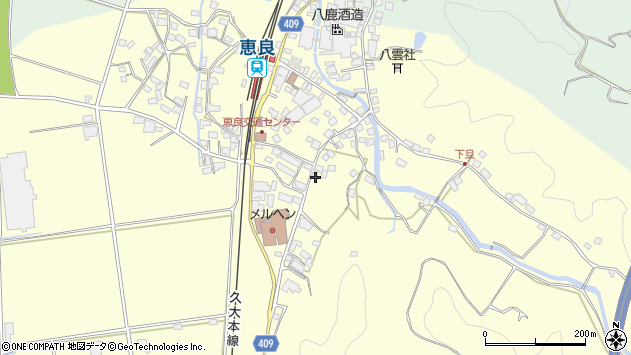 大分県玖珠郡九重町右田3353周辺の地図