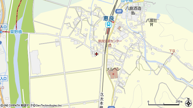 大分県玖珠郡九重町右田3102周辺の地図