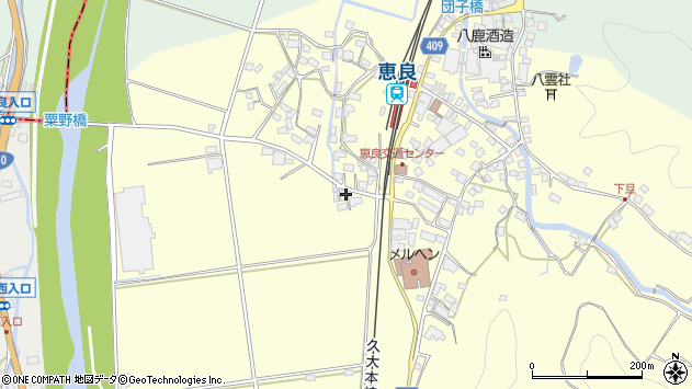 大分県玖珠郡九重町右田2894周辺の地図