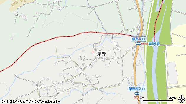 大分県玖珠郡九重町粟野1386周辺の地図