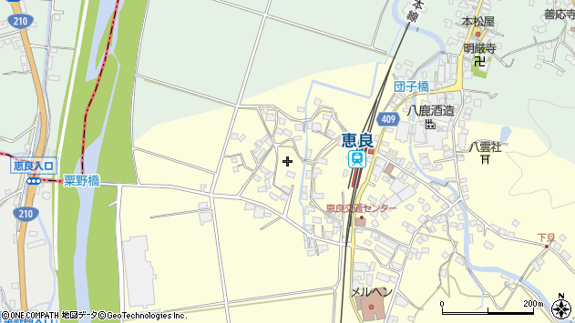 大分県玖珠郡九重町右田釣周辺の地図