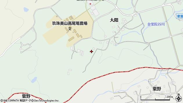 大分県玖珠郡玖珠町大隈1641周辺の地図