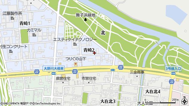 大分県大分市青崎周辺の地図