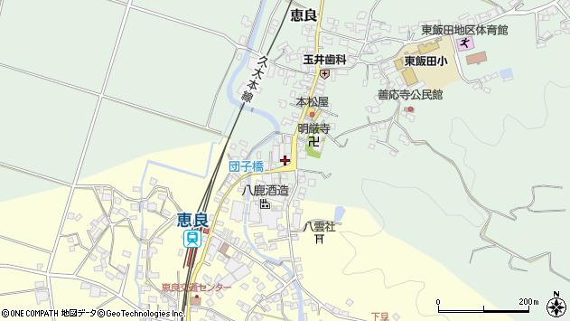 大分県玖珠郡九重町恵良579周辺の地図