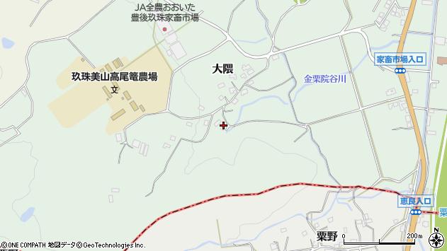大分県玖珠郡玖珠町大隈1619周辺の地図